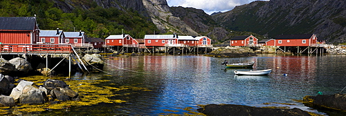 Museum Village of Nusfjord, Flakstadoya, island of Vestvagoya, Lofoten, Norway, Scandinavia, Europe