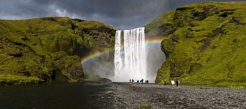 Skogarfoss waterfall, southwest coast, Iceland, Scandinavia, Europe
