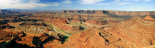 Panorama, Dead Horse Point in the early morning, Dead Horse Point State Park, Utah, USA