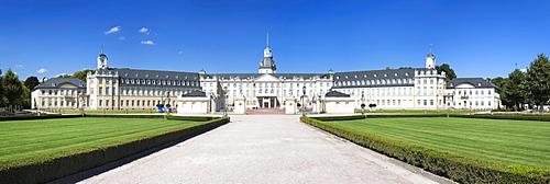 Schloss Karlsruhe castle and castle gardens, Kartsruhe, Baden-Wuerttemberg, Germany, Europe