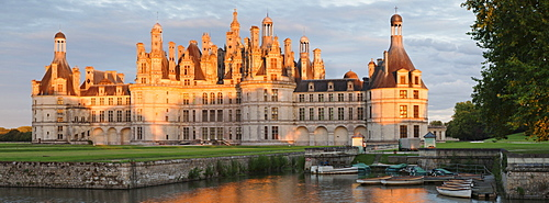 North facade, Chateau de Chambord castle, Chambord, Departement Loir-et-Cher, Region Central, France, Europe