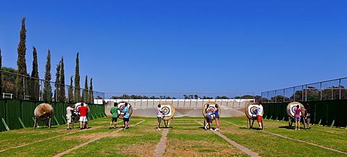 Archery in the Hotel Club Aldiana, Southern Cyprus, Cyprus, Europe