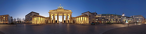 Panorama, Brandenburg Gate, Berlin, Germany, Europe