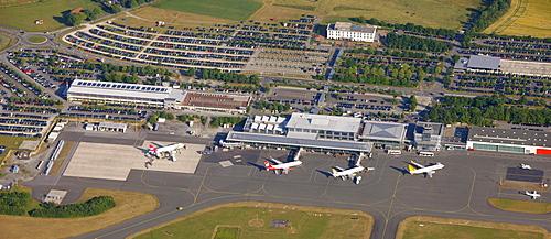 Aerial photo, airport Paderborn Lippstadt, Bueren, North Rhine-Westphalia, Germany, Europe