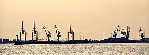 Panorama of the port, Thermaic Golf, Thessaloniki, Chalkidiki, Macedonia, Greece, Europe