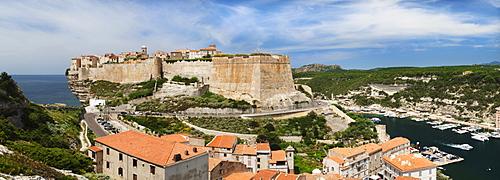 Bonifacio, Strait of Bonifacio, Corsica, France, Europe