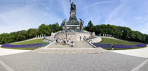 Niederwalddenkmal monument, UNESCO World Heritage Site, Ruedesheim, Upper Middle Rhine Valley valley, Hesse, Germany, Europe
