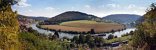 Vierburgeneck, Neckarsteinach, Neckar, Baden-Wuerttemberg, Germany, Europe