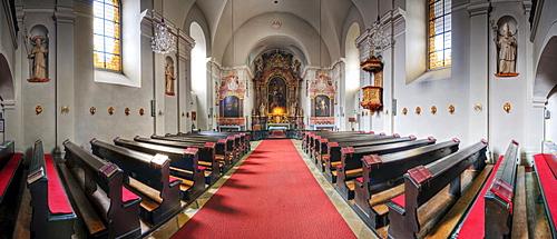 Altar in the Piaristenkirche church in Horn, Waldviertel Region, Lower Austria, Austria, Europe
