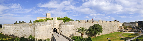 Amboise gate at the outer city wall, Rhodes Town, Rhodes, Greece, Europe