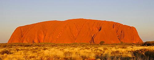 Panorama of Uluru, Ayers Rock at sunset, Uluru-Kata Tjuta National Park, Northern Territory, Australia