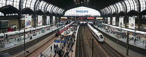 Hamburg central station, Hamburg, Germany, Europe