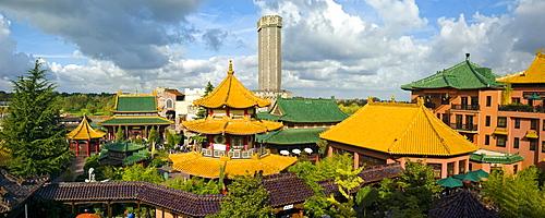 Phantasialand amusement park, attraction MYSTERY CASTLE, Bruehl, Nordrhein-Westfalen, Germany, Europe