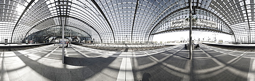 Berlin Central Station, 360 ∞ panorama, Berlin, Germany, Europe