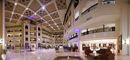 Panoramic view, lobby of the Steigenberger Al Dau Beach Resort, Hurhada, Egypt, Red Sea, Africa