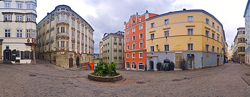 Historic chemist's house in the historic city centre of Linz, Upper Austria, Europe