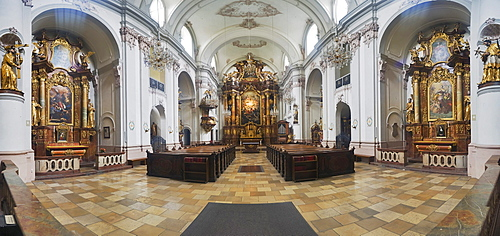 Interior view of the Ursulinenkirche in Linz, Upper Austria, Europe