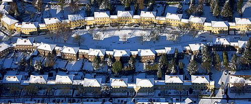 Aerial photo, Saliersiedlung, apartment houses, Muelheim home building company, Muelheim, Ruhr Area, North Rhine-Westphalia, Germany, Europe
