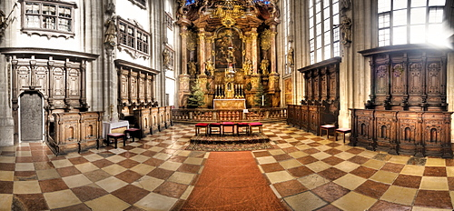 Altar of the Piaristen Church in Krems, Wachau Region, Waldviertel Region, Lower Austria, Austria