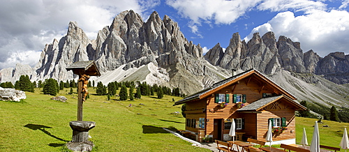 Gschnagenhardt alp and Geisler mountain range South Tyrol Italy