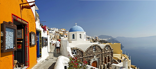 The village of Oia with his typical cycladic architecture, Oia, Santorini, Greece