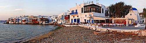 Little Venice and the restaurant Alefkandra , Myconos, Greece