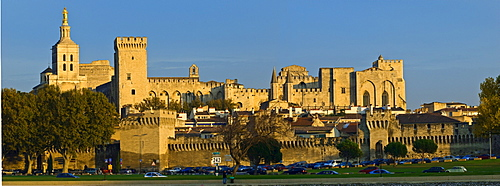 Old town Avignon with Rhone, Provence-Alpes-Cote d Azur, France
