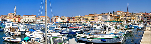 Harbour of Rovinj, Istria, Croatia