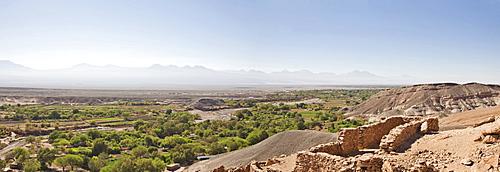 Pukara de Quitor, originally an Atacamenos fortress later taken over by the Incas, San Pedro de Atacama, Region de Antofagasta, Chile, South America