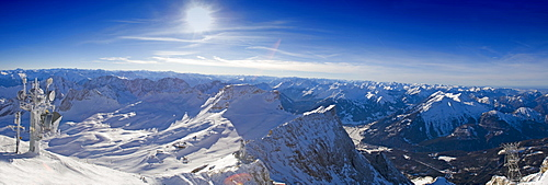 Mt. Zugspitze ski area, Alps, Germany, Europe