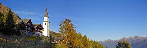 Marterle pilgrimage church, panoramic view, Moelltal valley, Carinthia, Austria, Europe