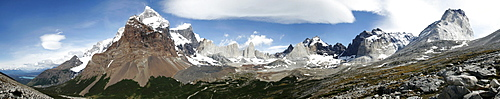Panorama in the Torres del Paine National Park, Patagonia, Chile, South America
