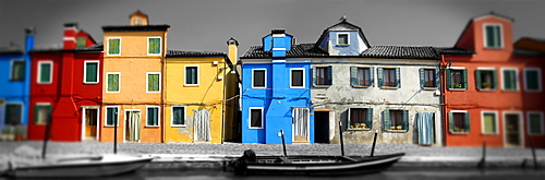 Colourful houses of Burano, Venice, Italy, Europe