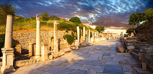 Curetes Street, Priest Street, centre of Ephesus archaeological site, Anatolia, Turkey