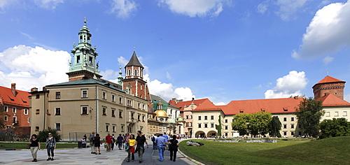 Wawel Castle, inner courtyard, Krakow, Lesser Poland, Poland, Europe