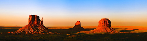 West Mitten Butte, East Mitten Butte and Merrick Butte, Monument Valley, Utah, USA