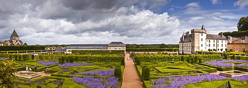 The Chateau de Villandry, UNESCO World Heritage Site, Loire Valley, Indre-et-Loire, Centre, France, Europe