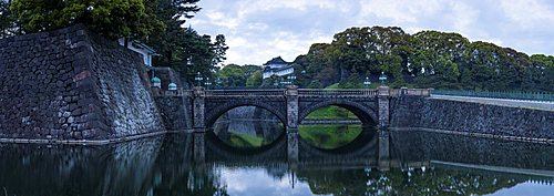 Panorama of the Imperial Palace in central Tokyo, Japan.