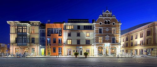 city place with old renovated and modern houses