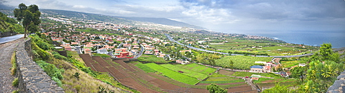 El Teide and La Orotava valley view. Santa Cruz, La Orotava (world heritage site), Tenerife Island. Canary Islands