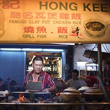 Street food in Chinatown at night, Kuala Lumpur, Malaysia, Southeast Asia, Asia