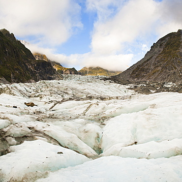 Fox Glacier, Westland National Park, UNESCO World Heritage Site, South Island, New Zealand, Pacific
