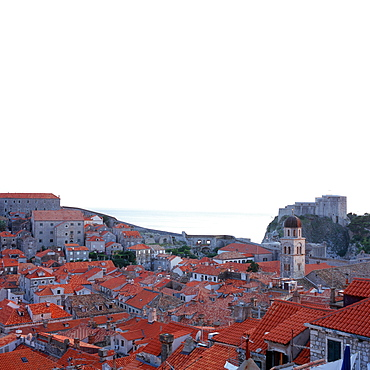 View over Dubrovnik's roofes, Dubrovnik, Dalmatia, Croatia