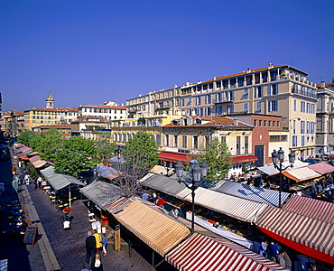 France, French Riviera, Nice, flower market