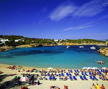 Spain, Ibiza, Cala Portinatx, beach