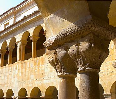 Benedictine monastery with cloister, Santo Domingo de Silos, Castilla Leon, Spain