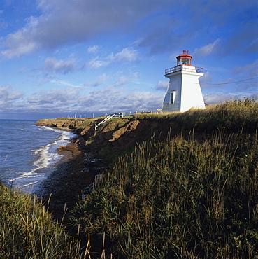 Lighthouse at sunrise, Baie-des-Chaleurs, Bonaventure, Gaspe Coast, Quebec