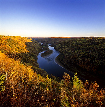 Salmon River in the fall, Gaspe Coast, Quebec