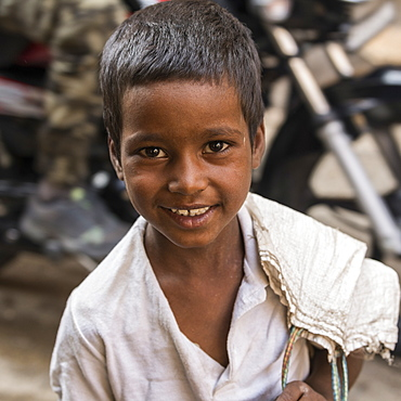 Portrait of a young Indian boy, Jaisalmer, Rajasthan, India