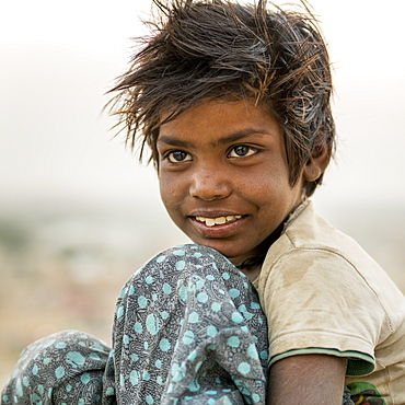 Portrait of a young boy, Jaisalmer, Rajasthan, India